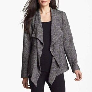 Eileen Fisher open front drape jacket size M